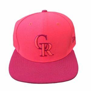 NWOT Pink Colorado Rockies SnapBack Baseball Hat